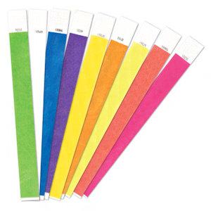 צמידי נייר חלקים במגוון צבעים